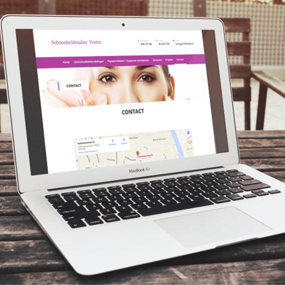 Website design schoonheidssalon Yvette