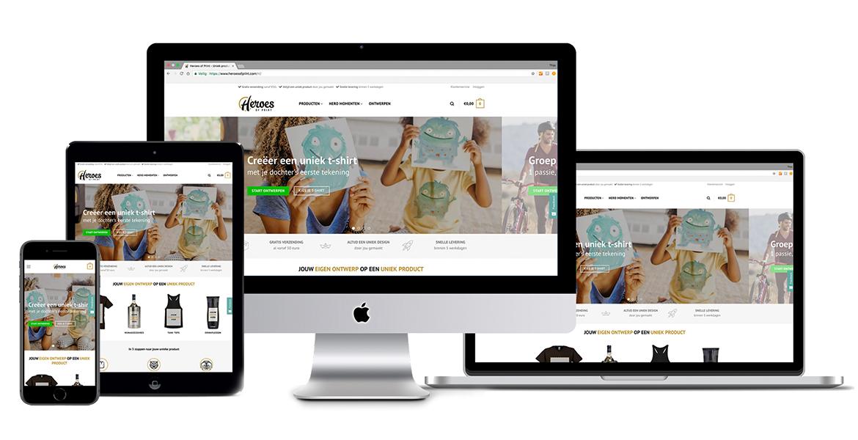 Heroes of Print nieuwe website laten maken laarbeek