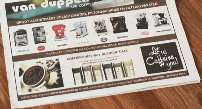 Koffieadvertentie van Duppen
