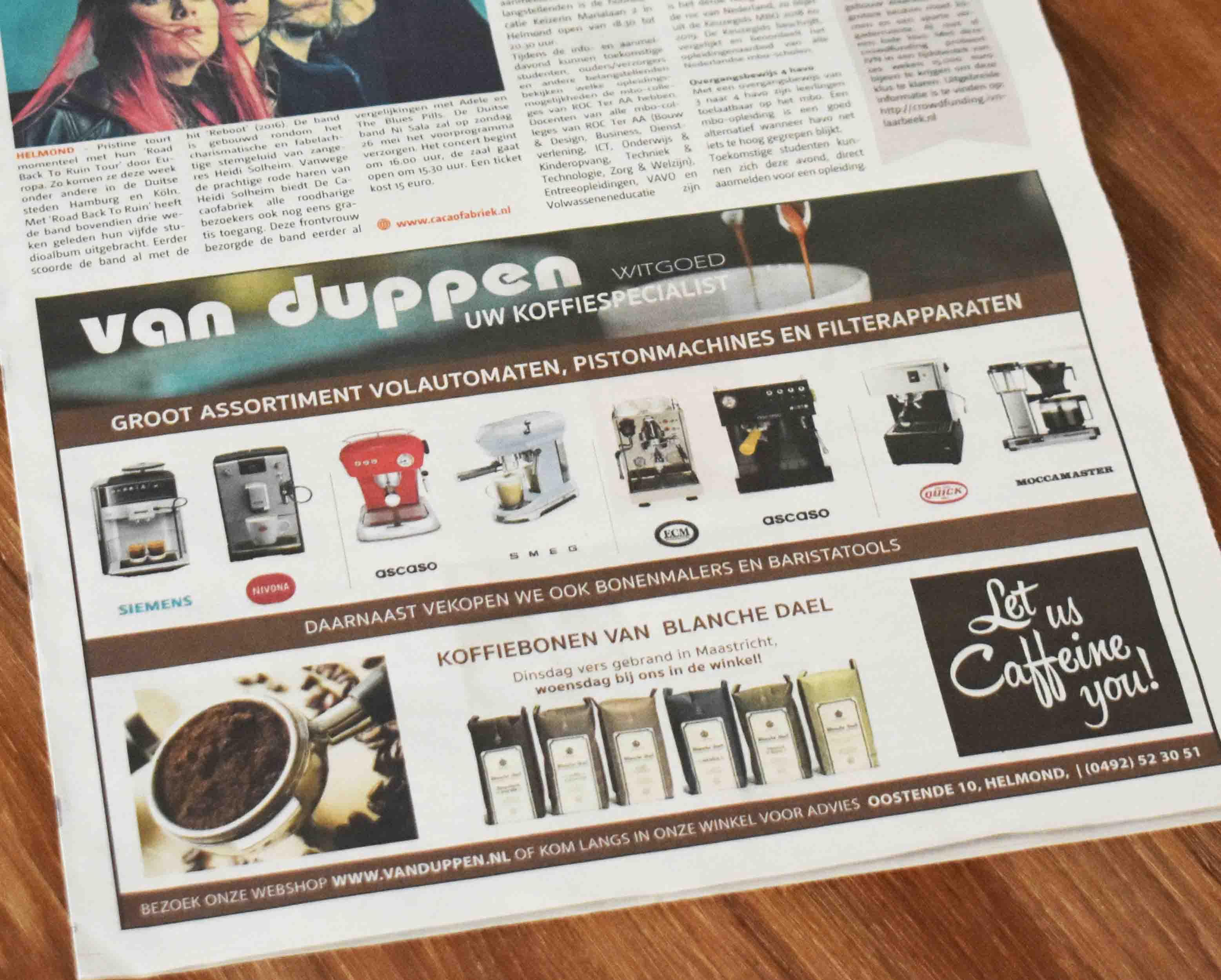 Advertentie van Duppen - Thijs Design