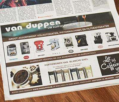 Advertentie van Duppen