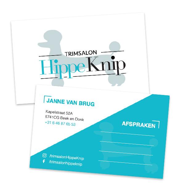 Visitekaartje De Hippe Knip