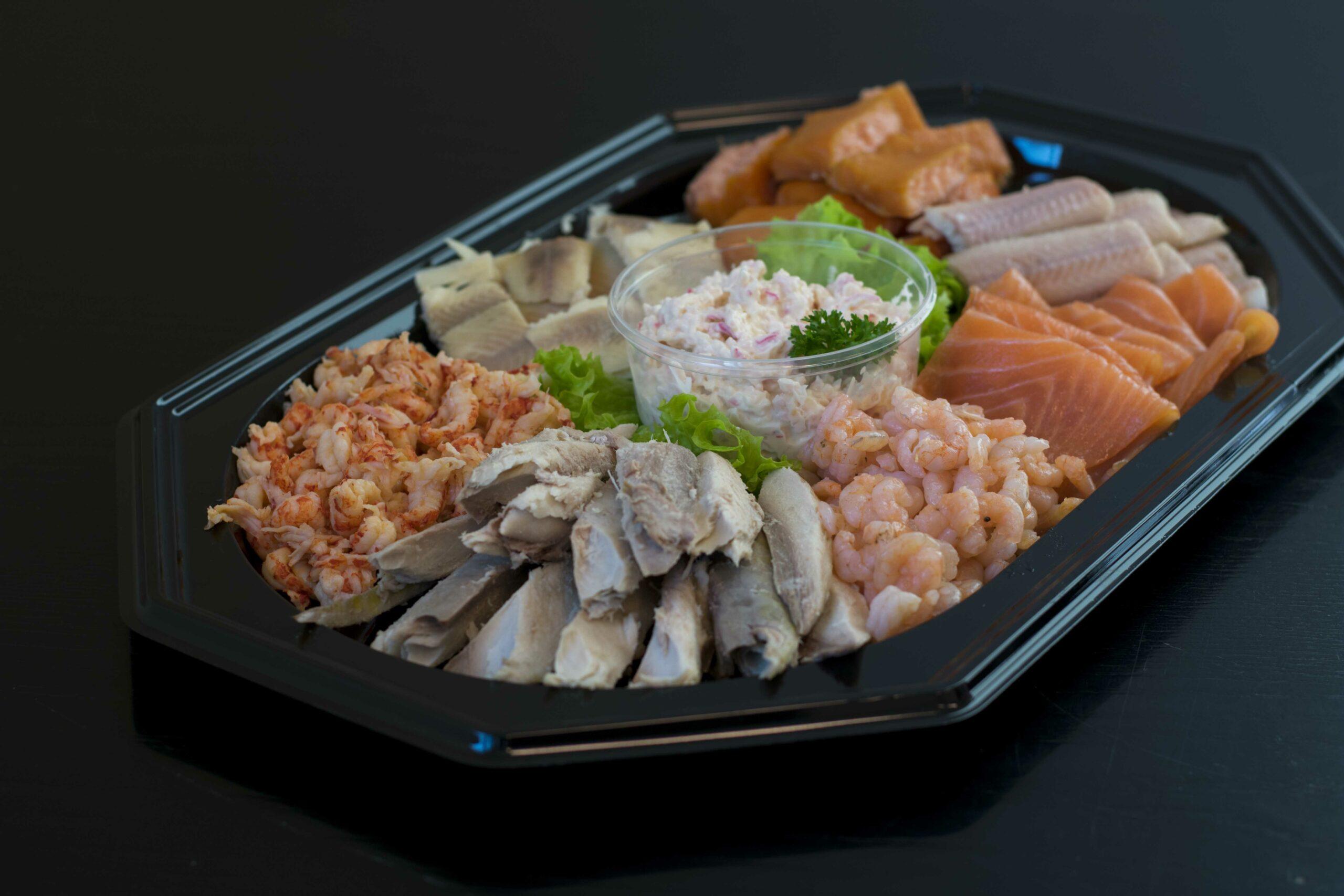 Visaanhuisbezorgd grote sushi schaal