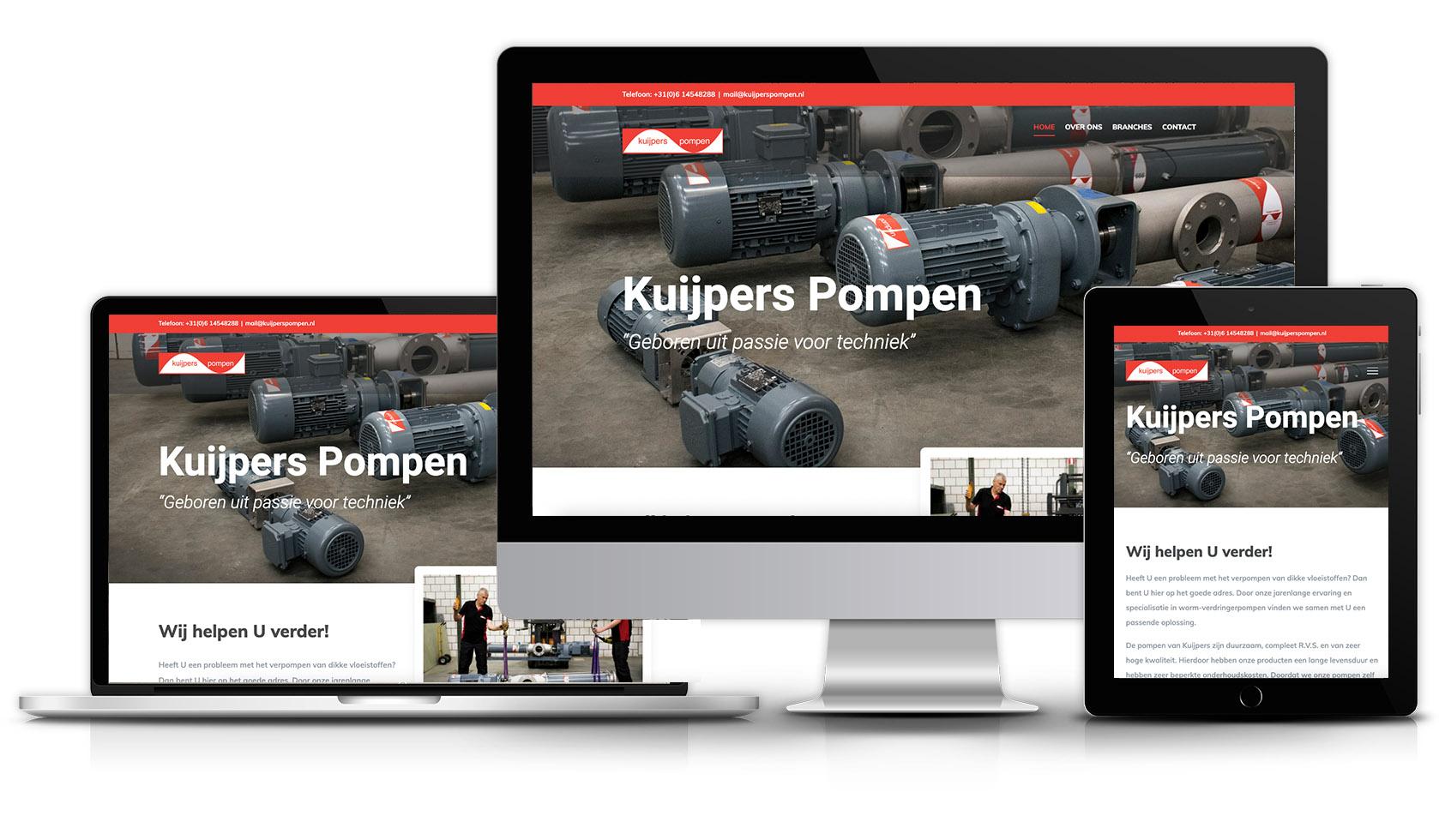 Website Kuijpers Pompen